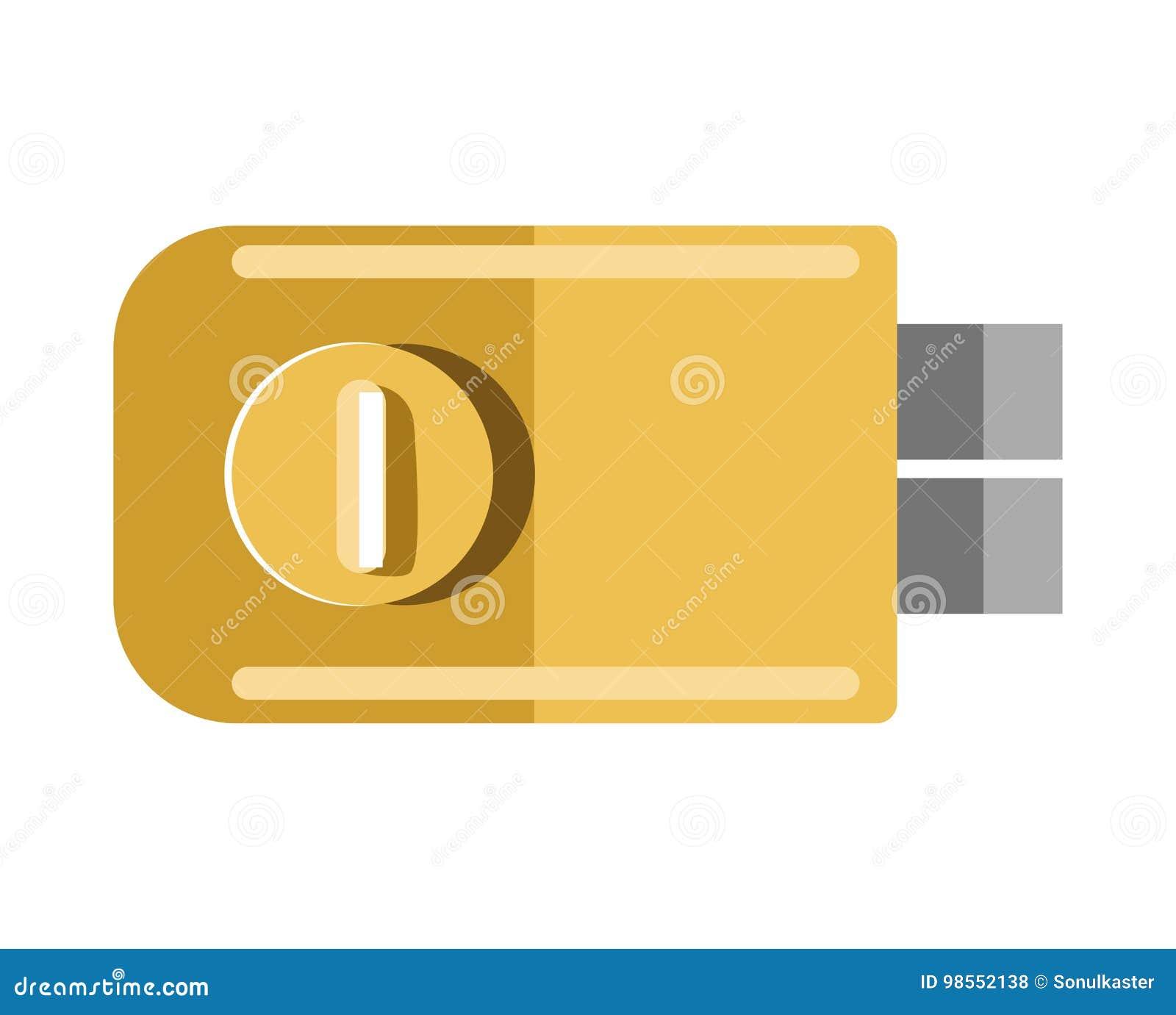 Metal La Serratura Di Porta Con L Illustrazione Isolata Maniglia
