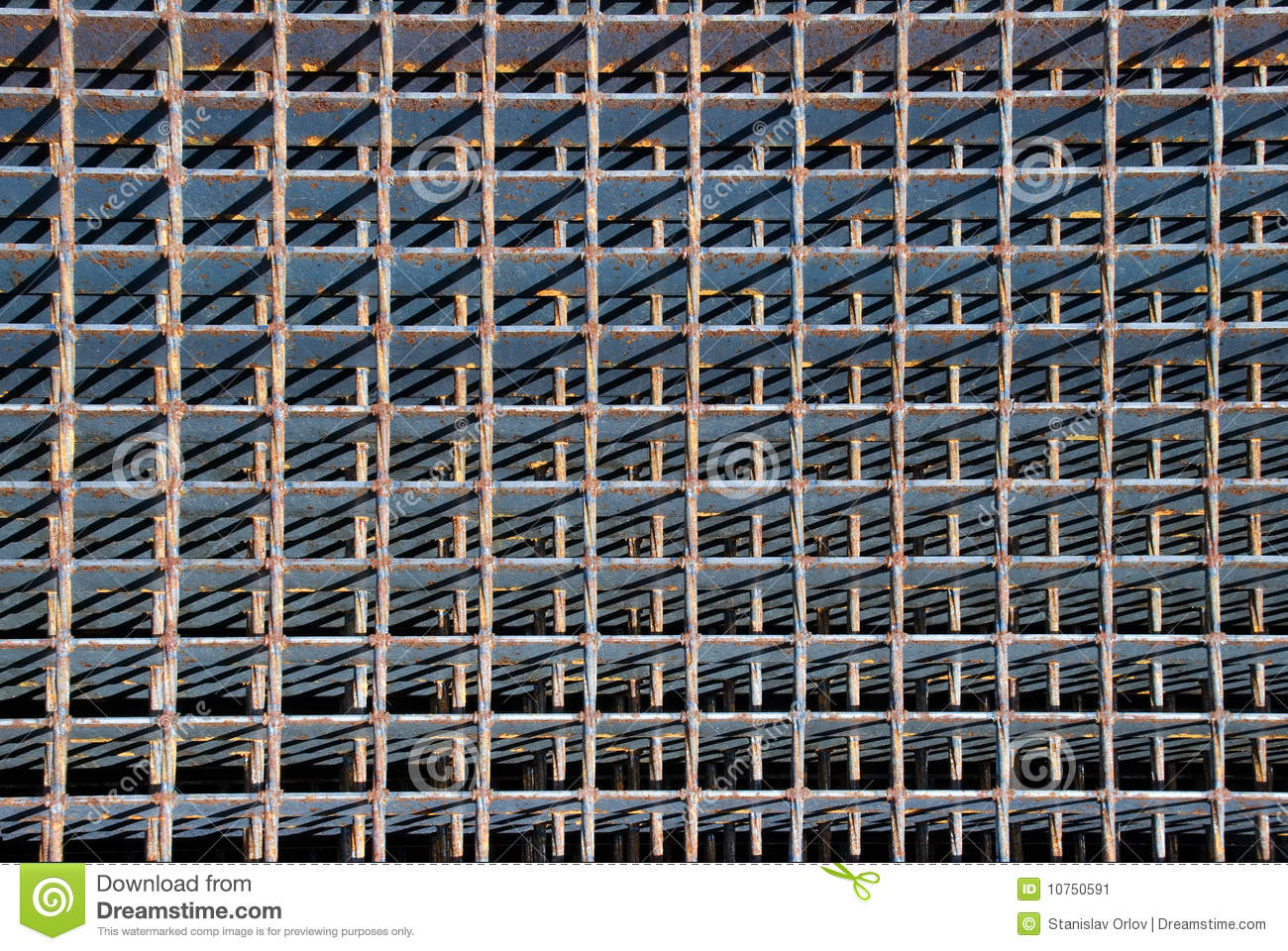 Metal Lattice Stock Image Image Of Obsolete House Brown