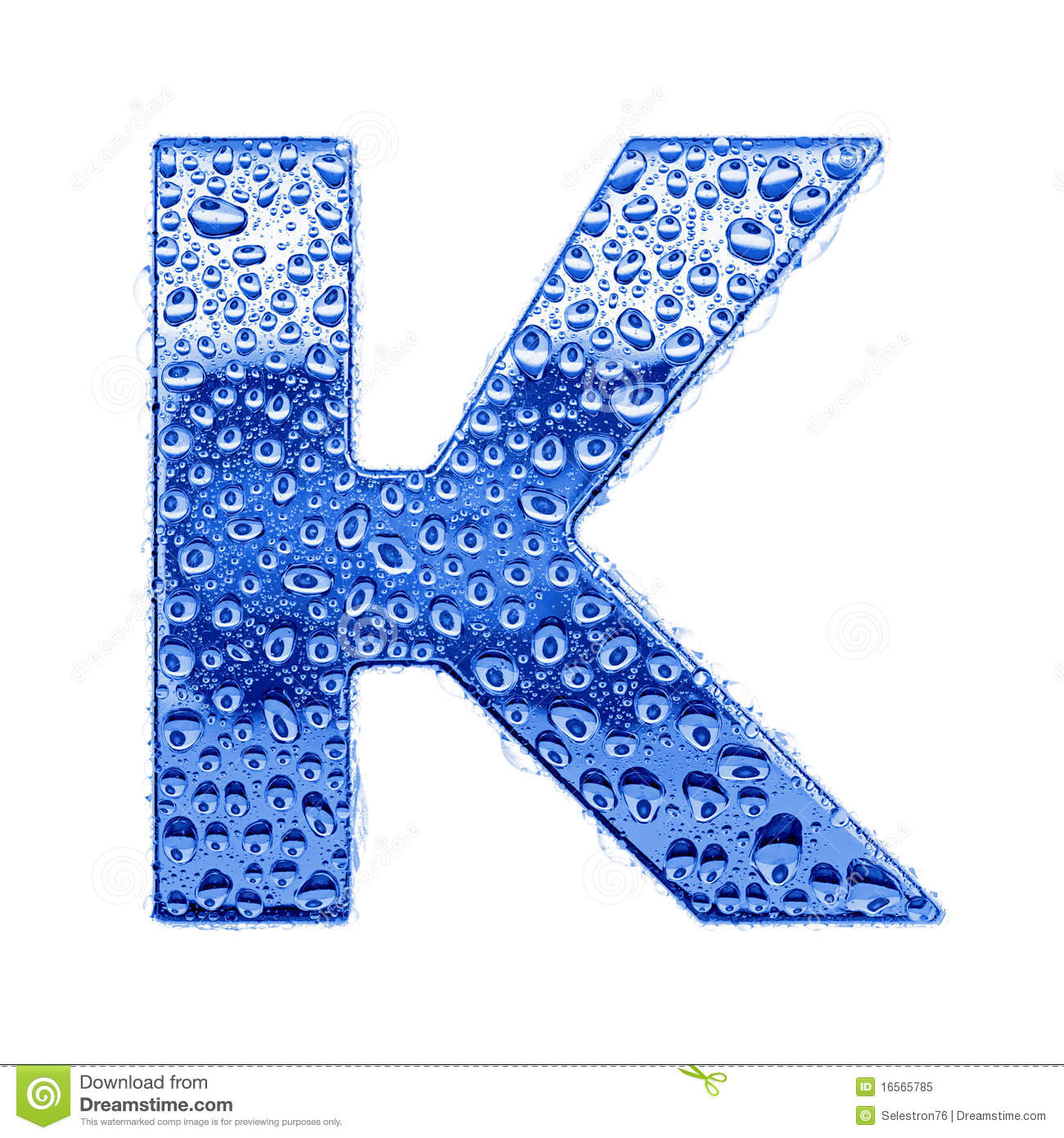 Metal Letter Water Drops Letter K Stock Image Image Of Number
