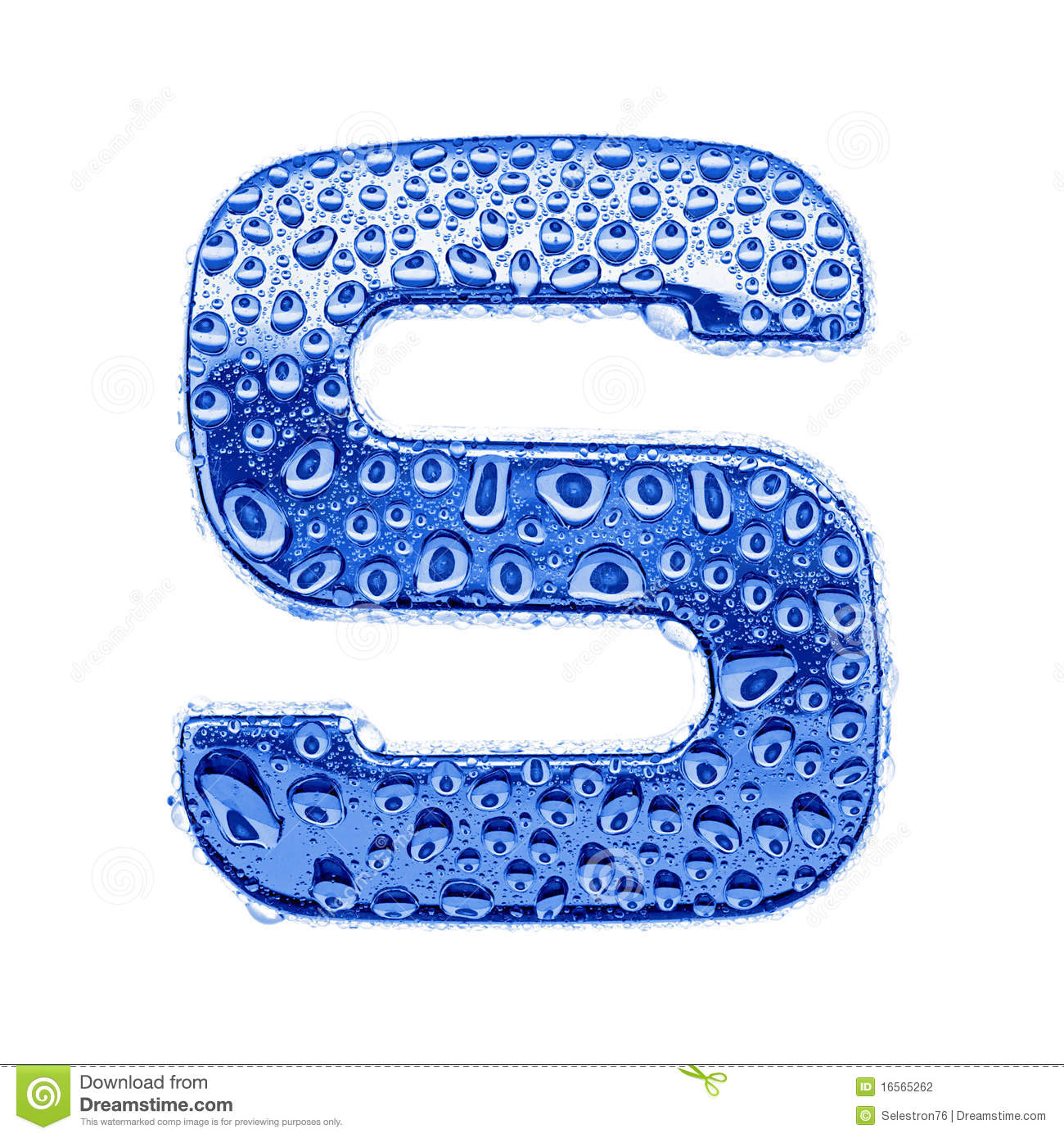 Metal Letter & Water Drops - Letter S Stock Photography ...