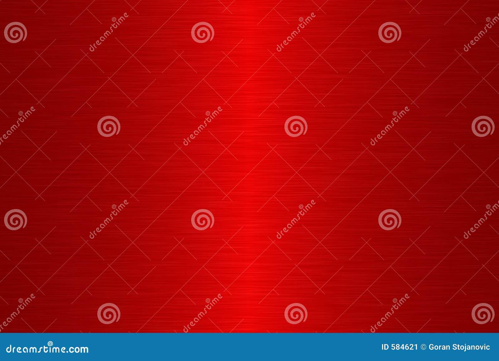 Metal linear del cepillo - rojo