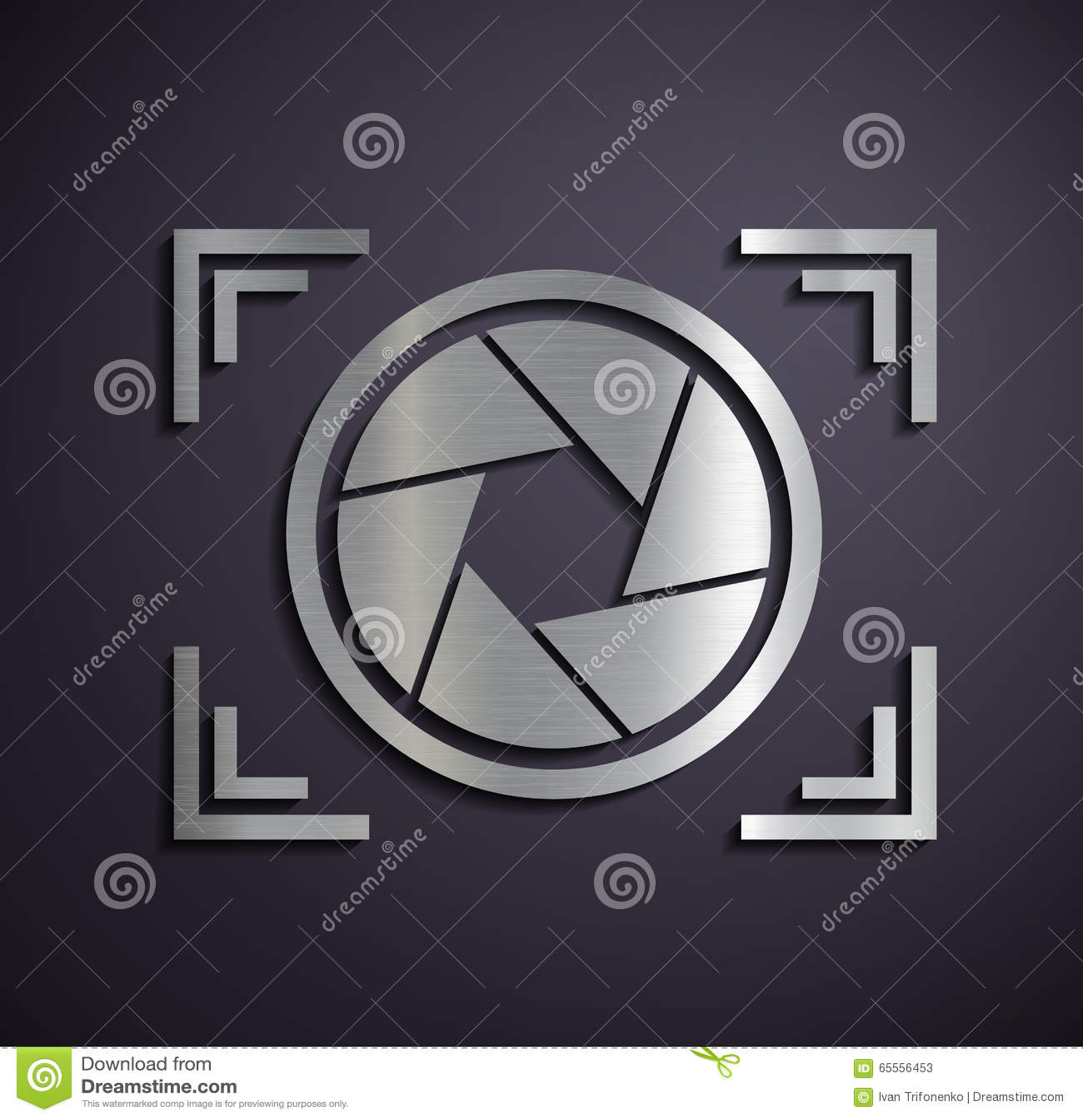 Metal logo camera.