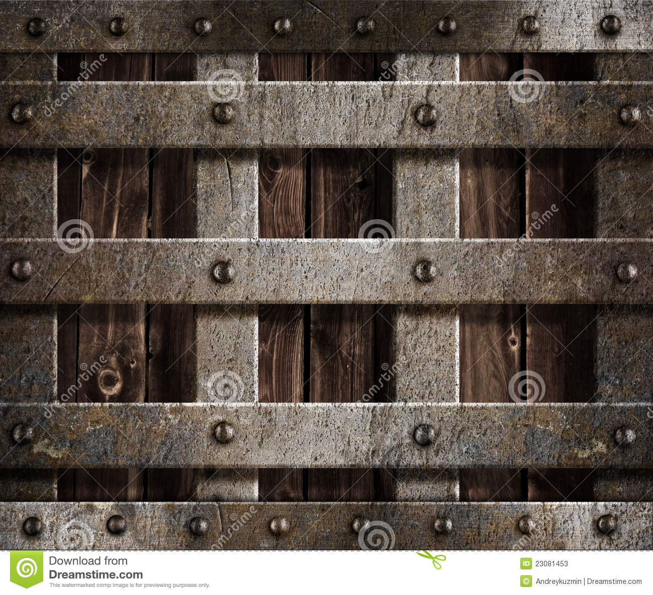 Metal Medieval Castle Antique Background Stock Image