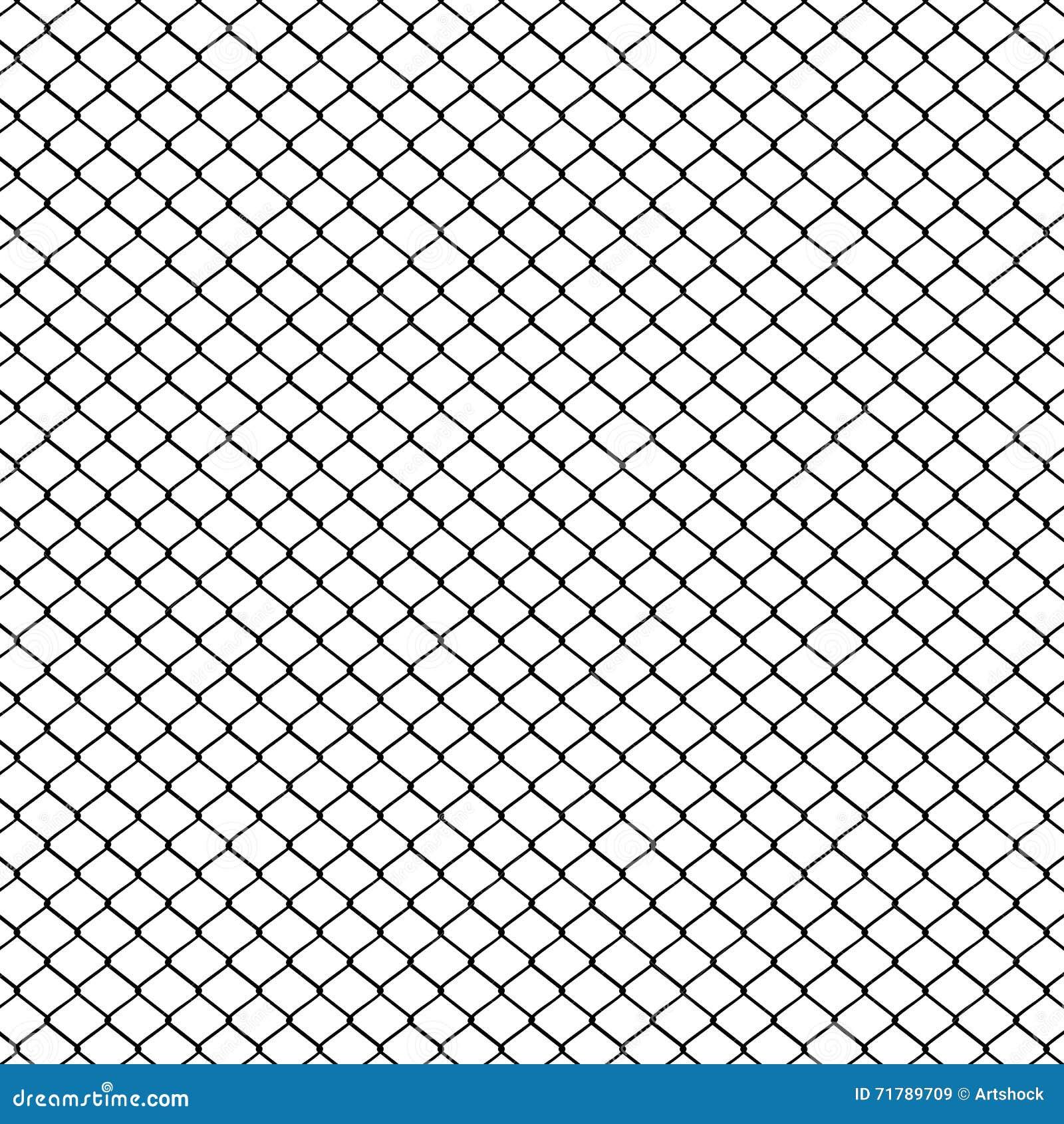Metal mesh fence stock vector image