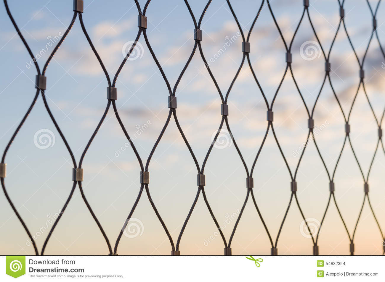 Download Metal Mesh Wire Fence Closeup Stock Photo - Image of outdoors, construction: 54832394