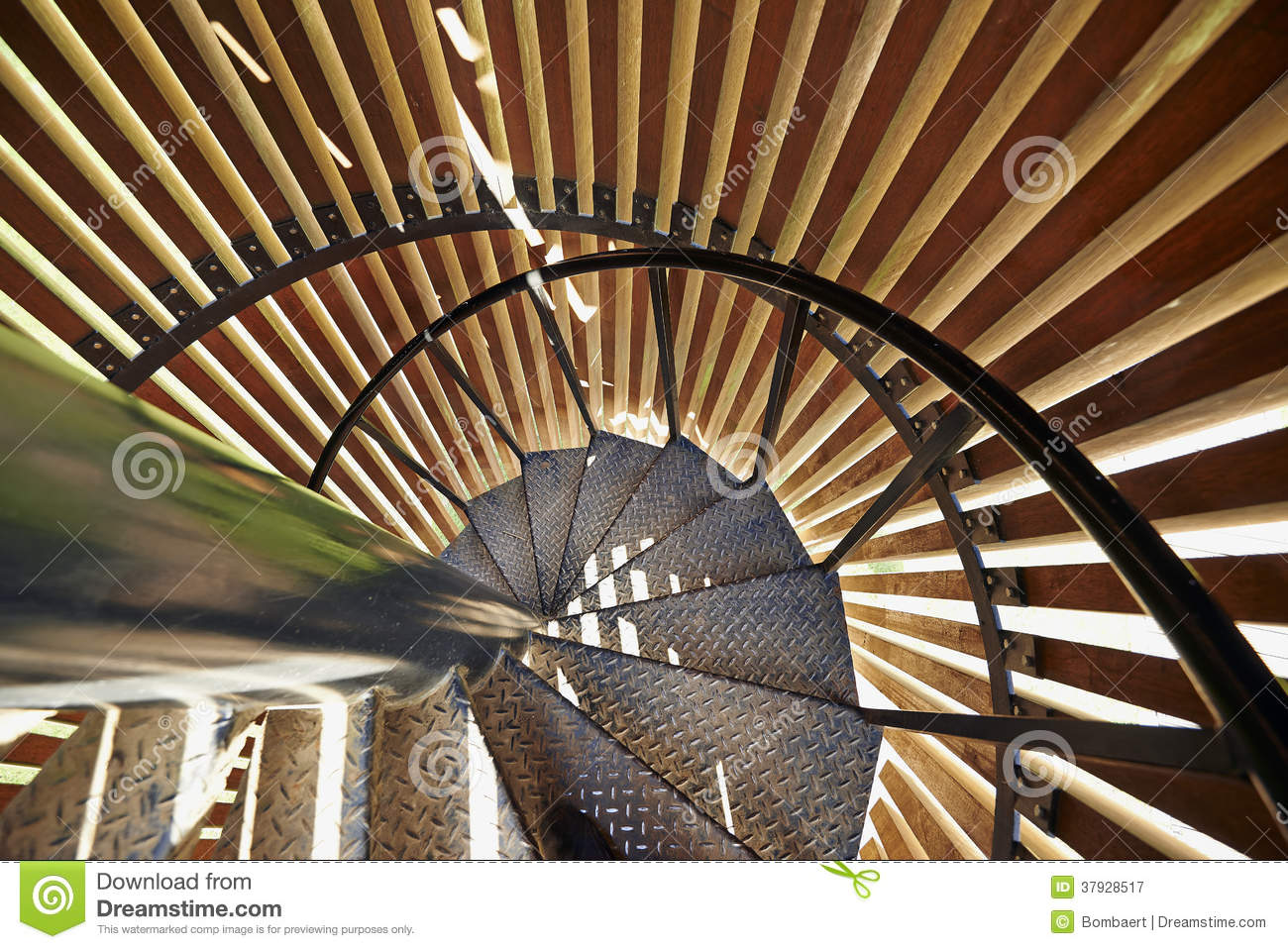 Metal modern spiral staircase details stock image image for Aluminum spiral staircase prices