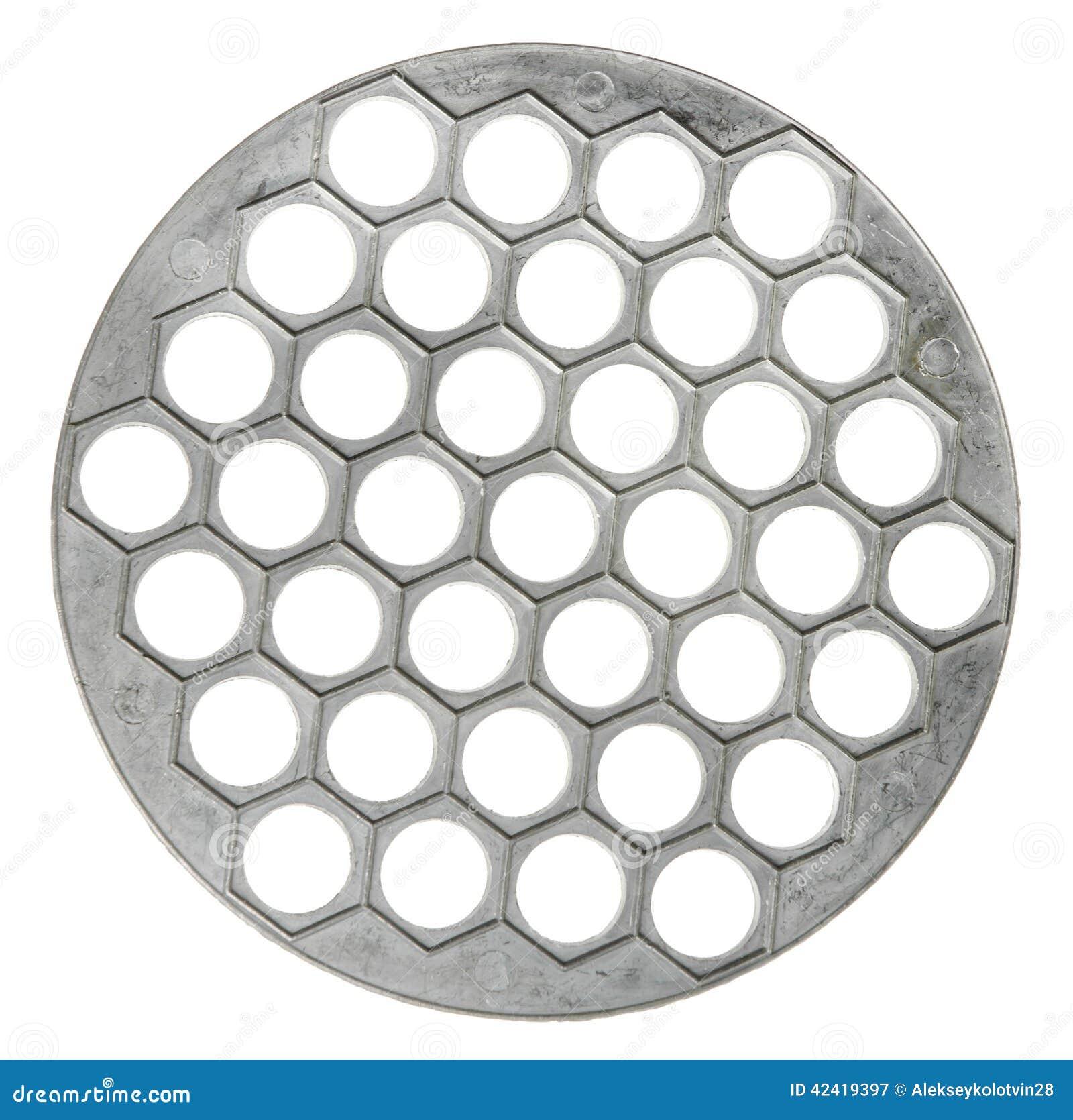 Metal o tripé para os utensílios de mesa quentes isolados no fundo branco