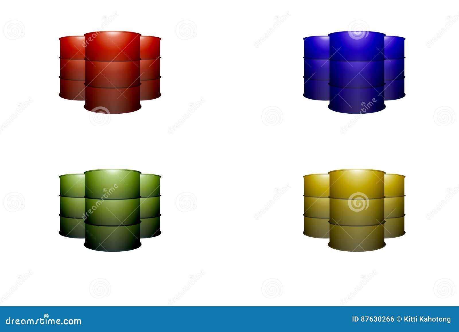 Metal oil barrel tank