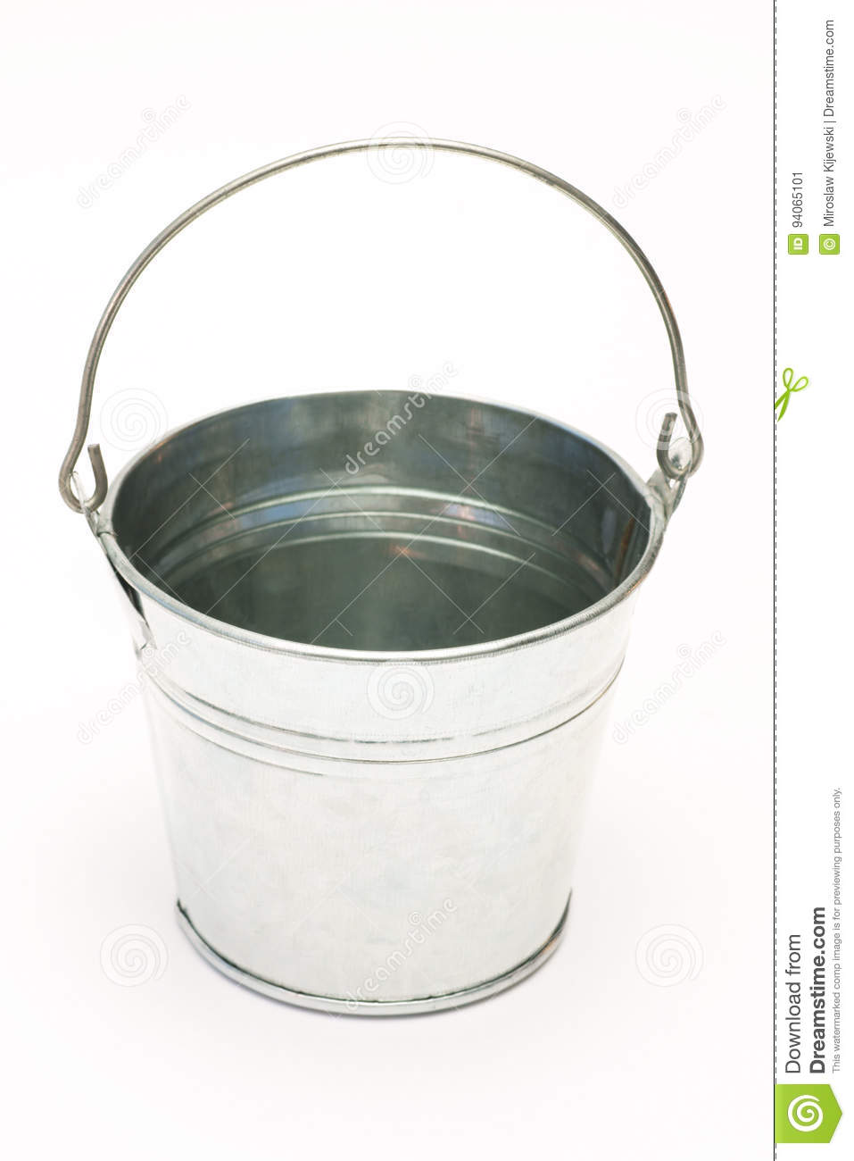 Metal pail, Bucket on a white background