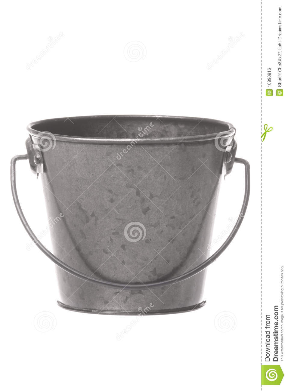 Metal Pail Isolated