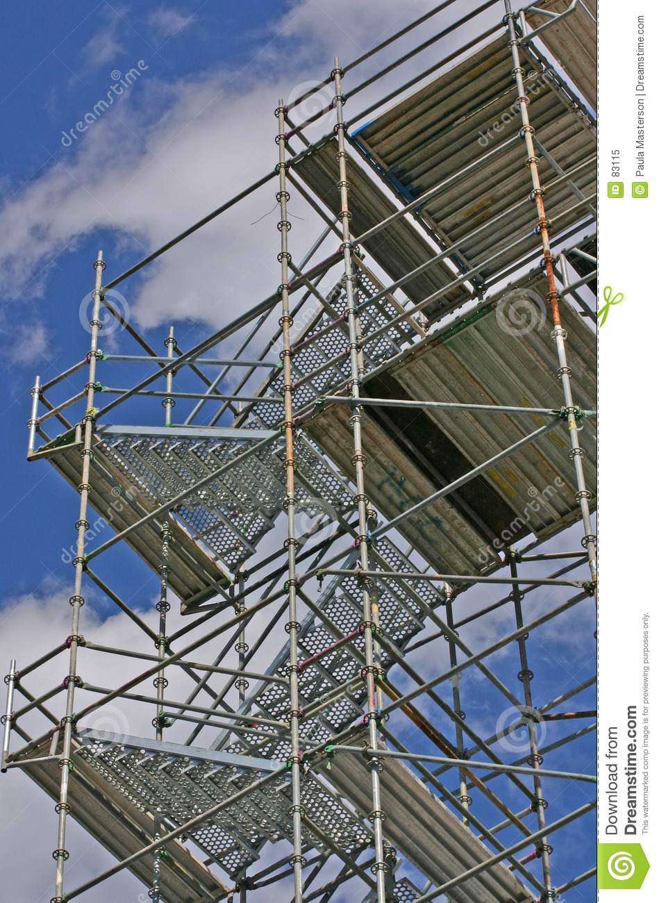 Metal Painters Scaffolding Royalty Free Stock Photo