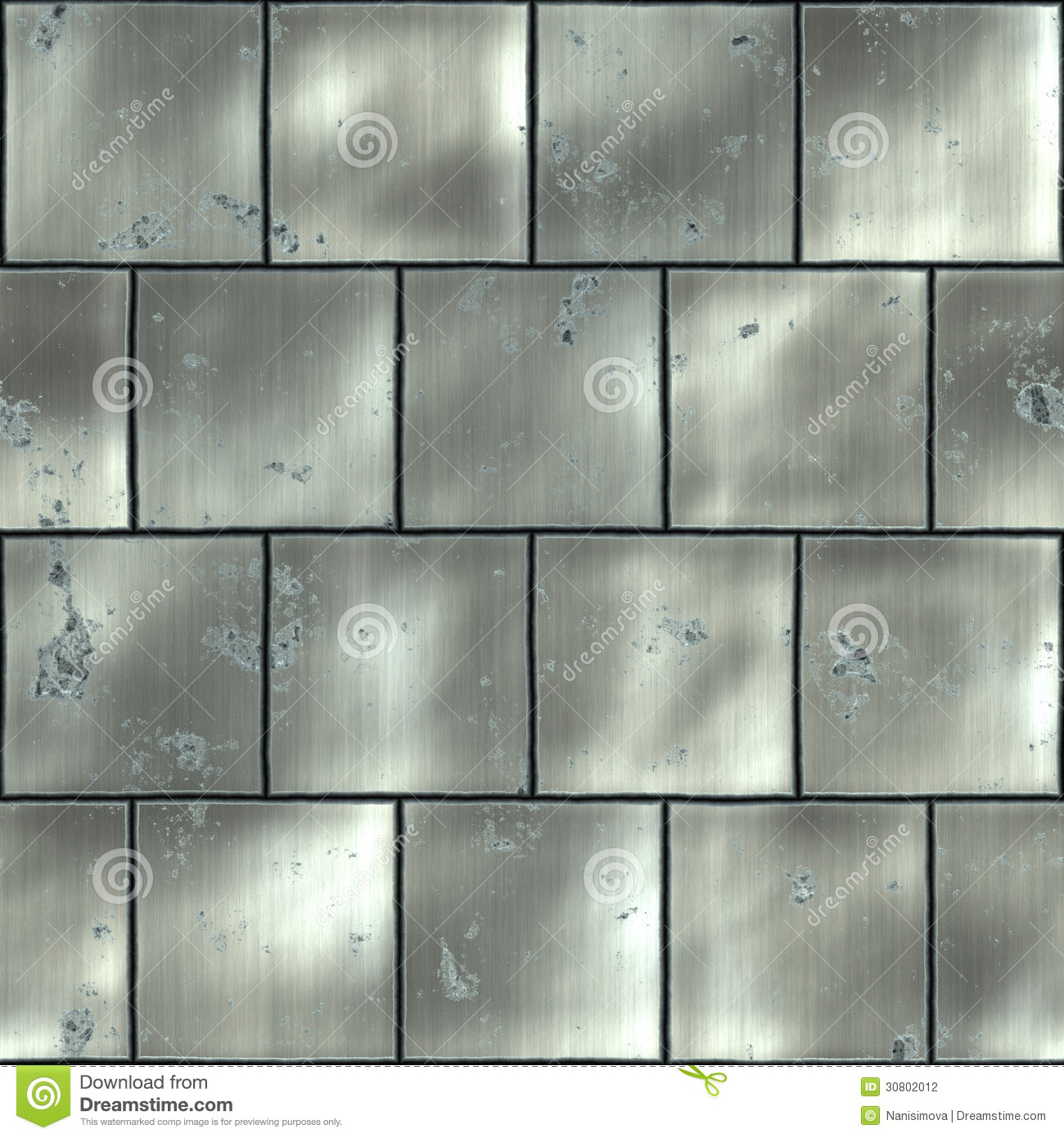 Metal Panels On Industrial Door Or Wall Stock Photo, Picture And ...