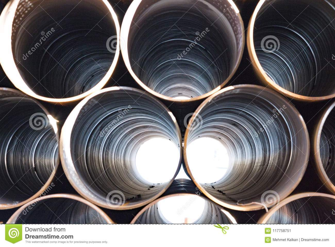 Warehouse factory sewer pipes