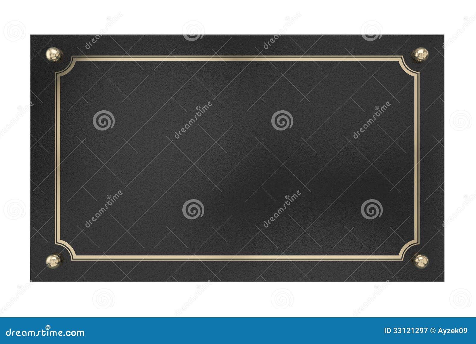 Metal plaque isolated on white royalty free stock - Plaque d aluminium pour cuisine ...