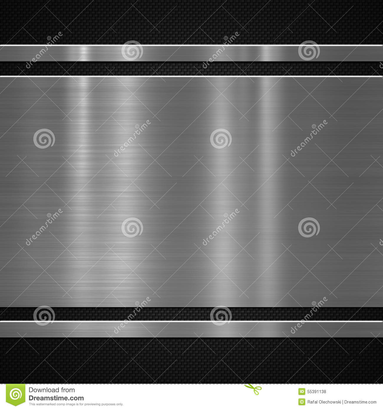 Metal plate on carbon background