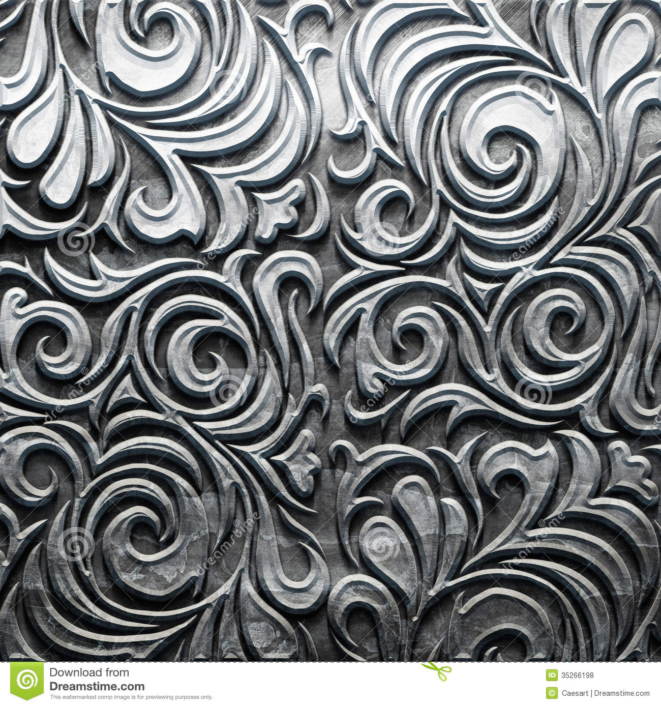 Metal plate with carved pattern royalty free stock photos