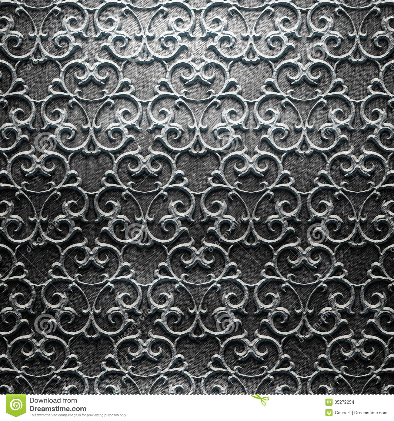 Metal plate with carved pattern stock images image