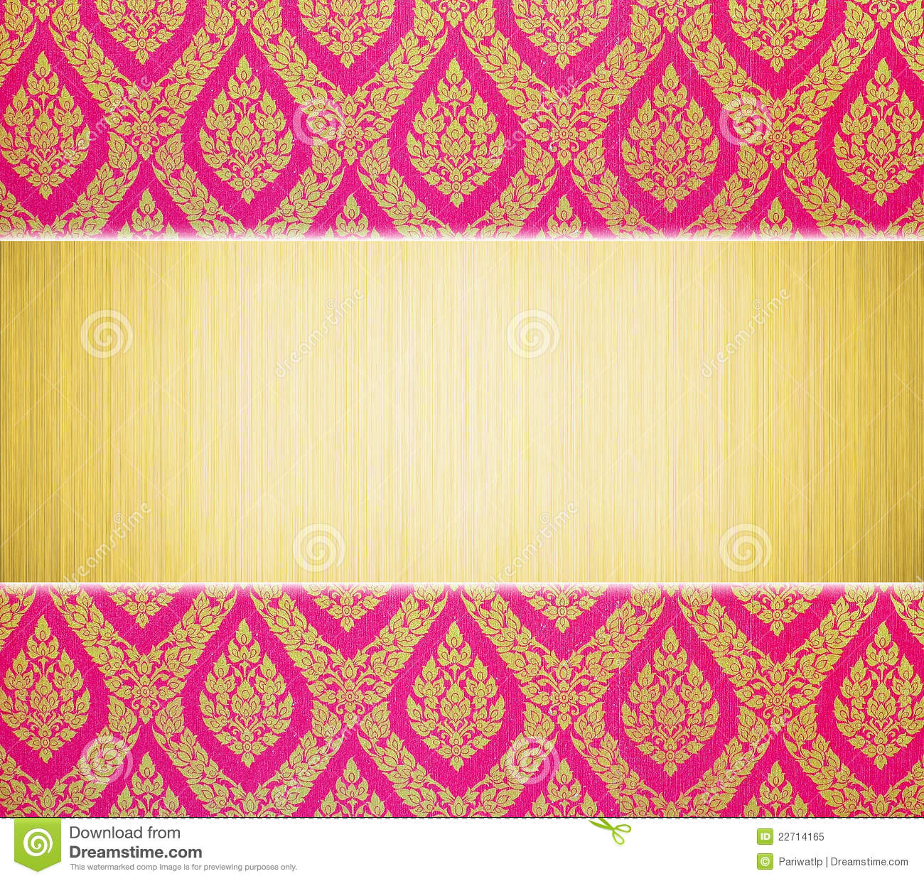 Metal Plate And Thai Traditional Pattern Royalty Free Stock Photo ...