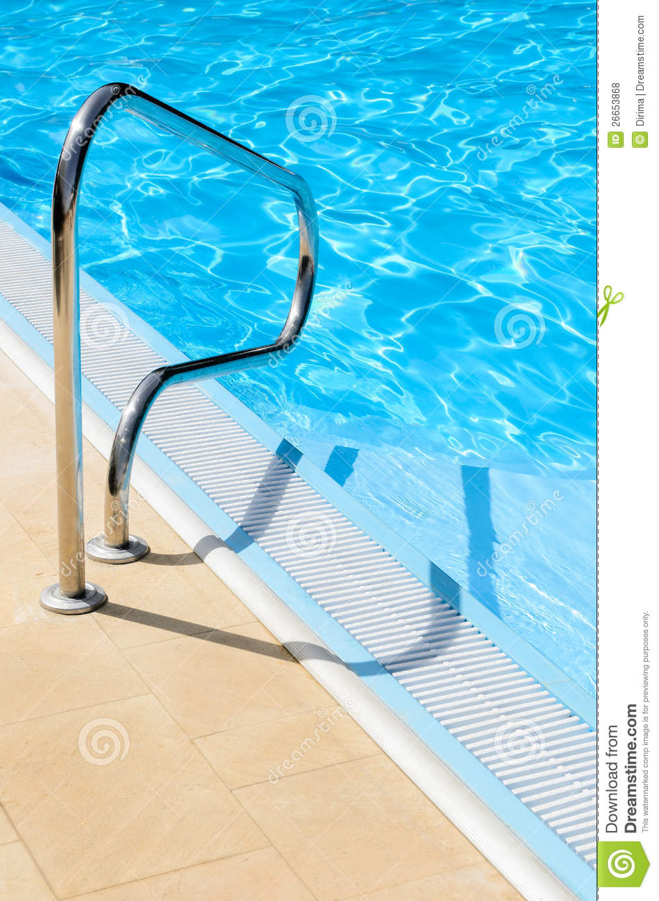 Metal pool railing royalty free stock photos image
