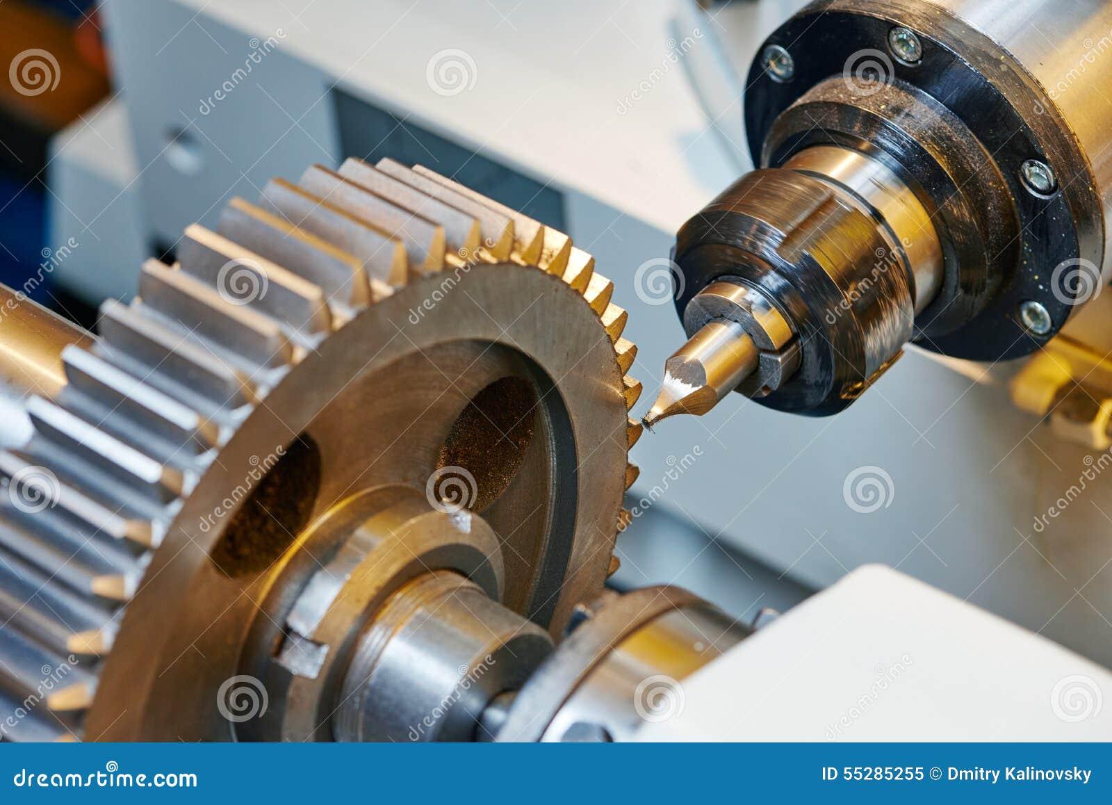 Metal pracującej przekładni machining