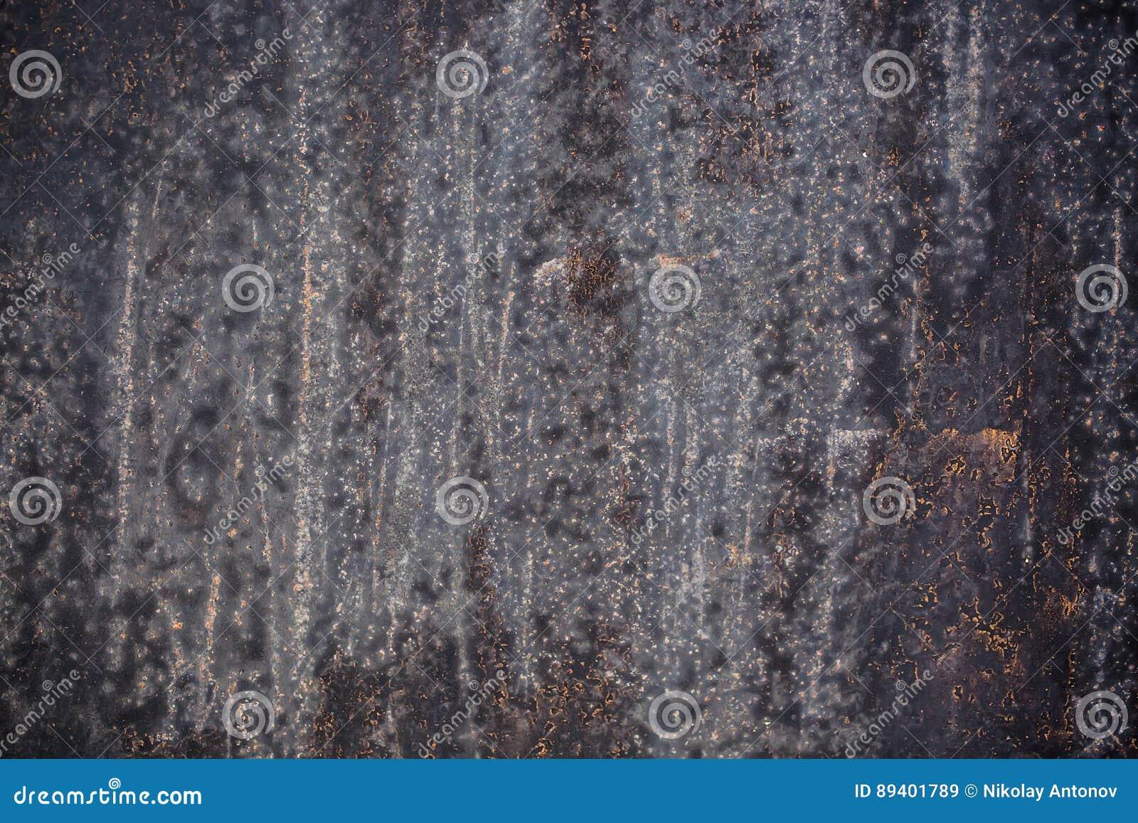 Metal preto fundo corroído da textura