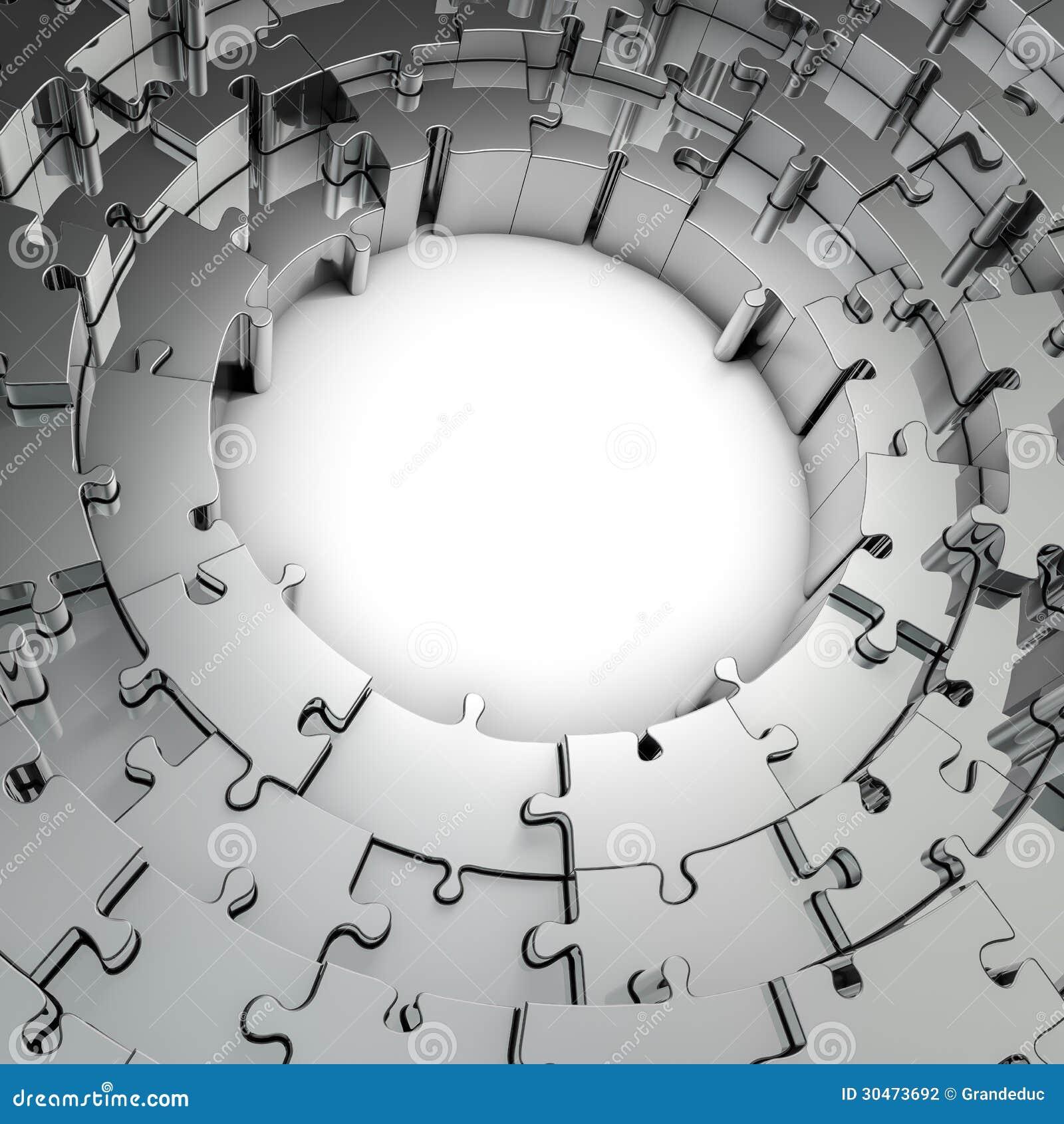 Metal puzzle frame stock illustration. Illustration of business ...