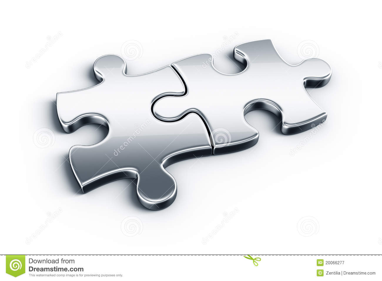 Metal Puzzle Pieces Royalty Free Stock Photography Image