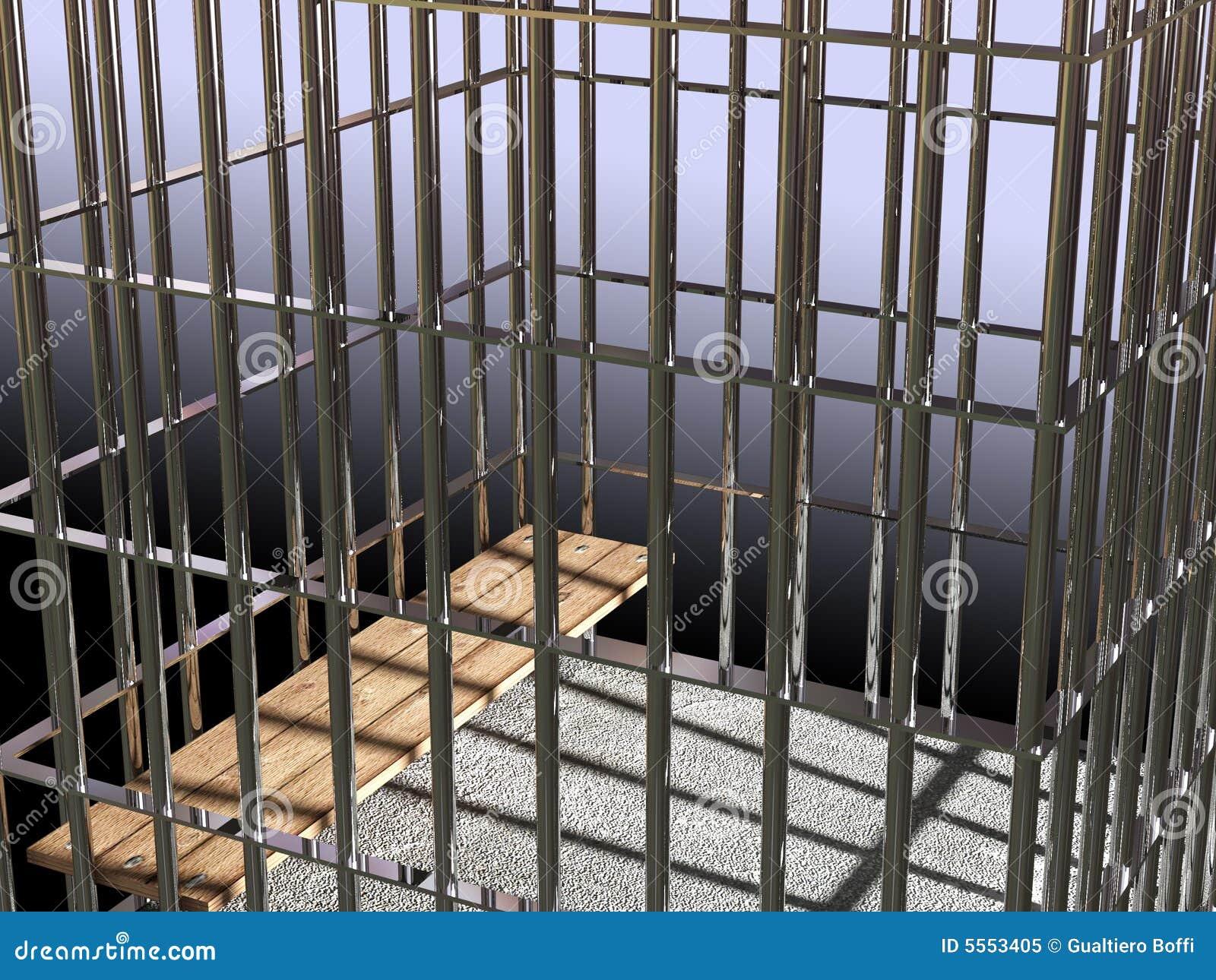 Metal Rahmen 3d, Konzept Von Gefängnis 02 Stock Abbildung ...
