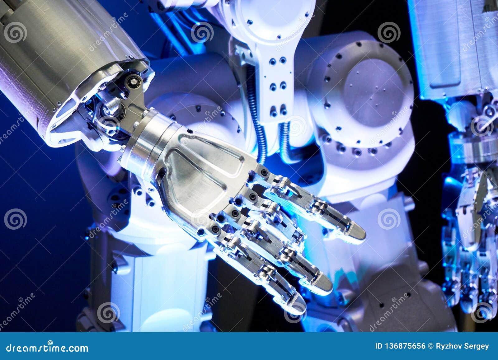 Metal robot arm