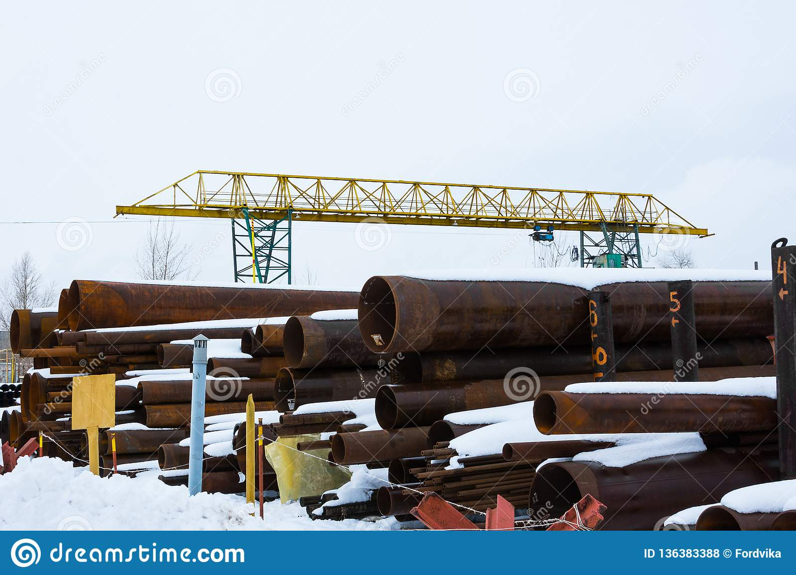 Metal rolling. A round tube large diameter