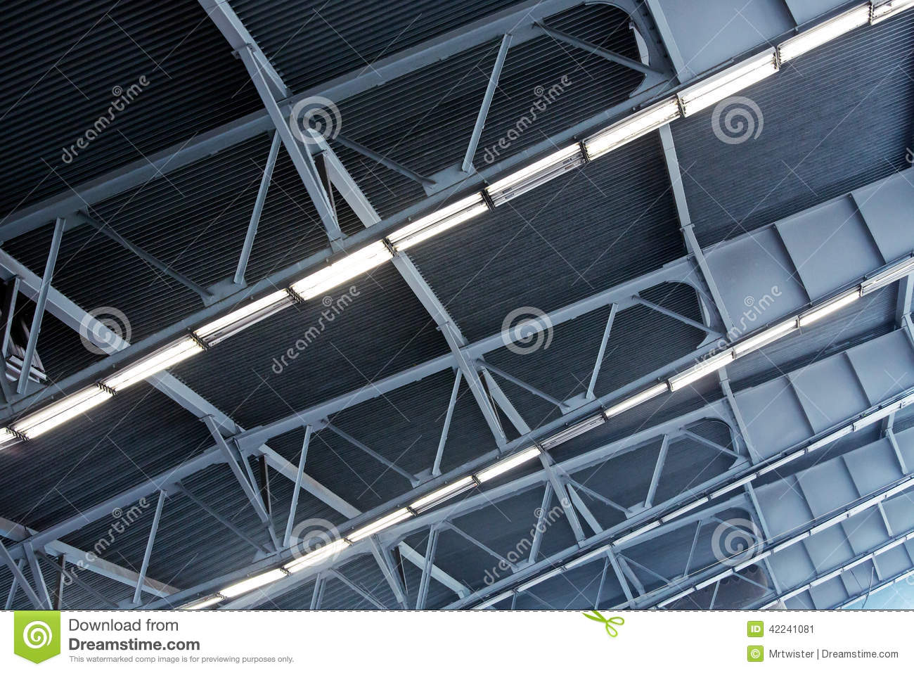 Metal Roof Of Industrial Building Stock Photo Image