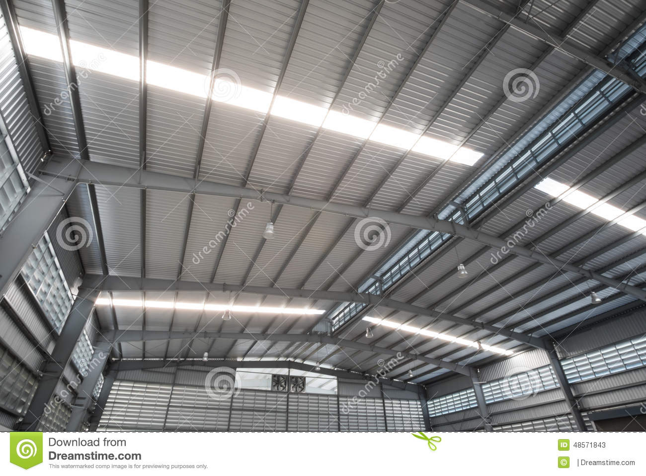 Metal Roofing Stock Image Image Of Beam Ceiling