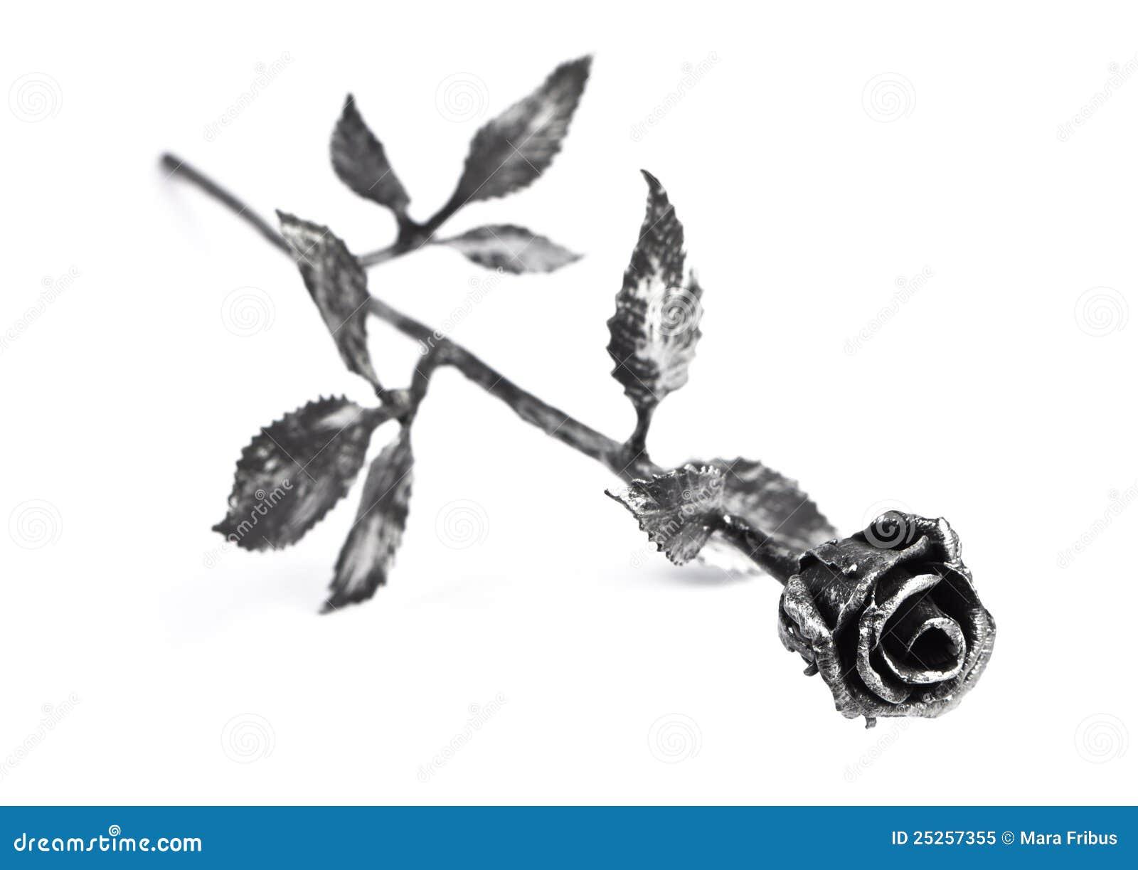 metal rose stock image  image of flower  despair  romantic