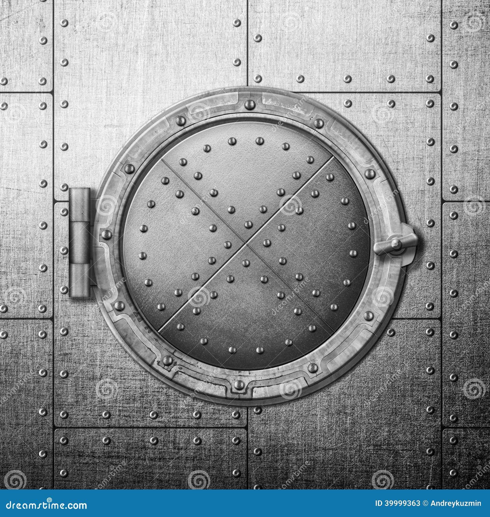 Safe Hatch Doors : Metal safe door illustration stock