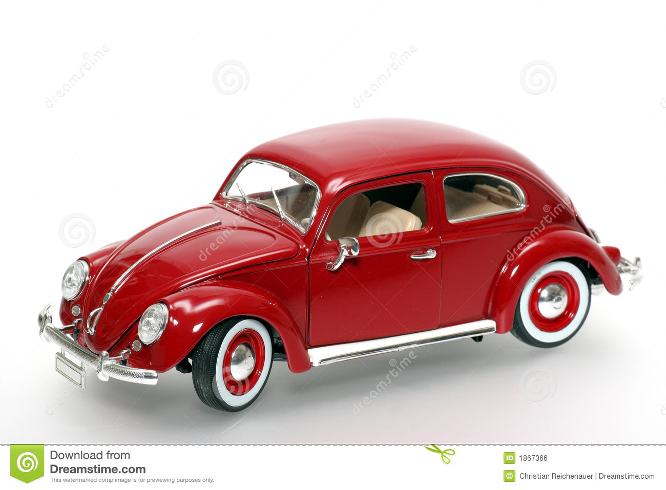 Old Red Volkswagen Toy Car