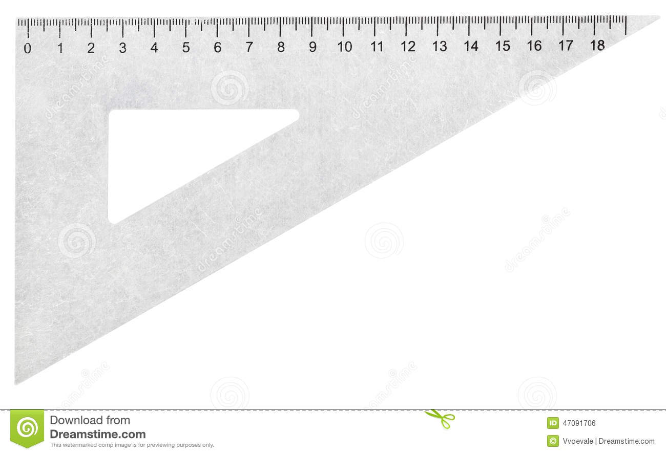 Metal set square triangle isolated on white stock photo for Place setting images