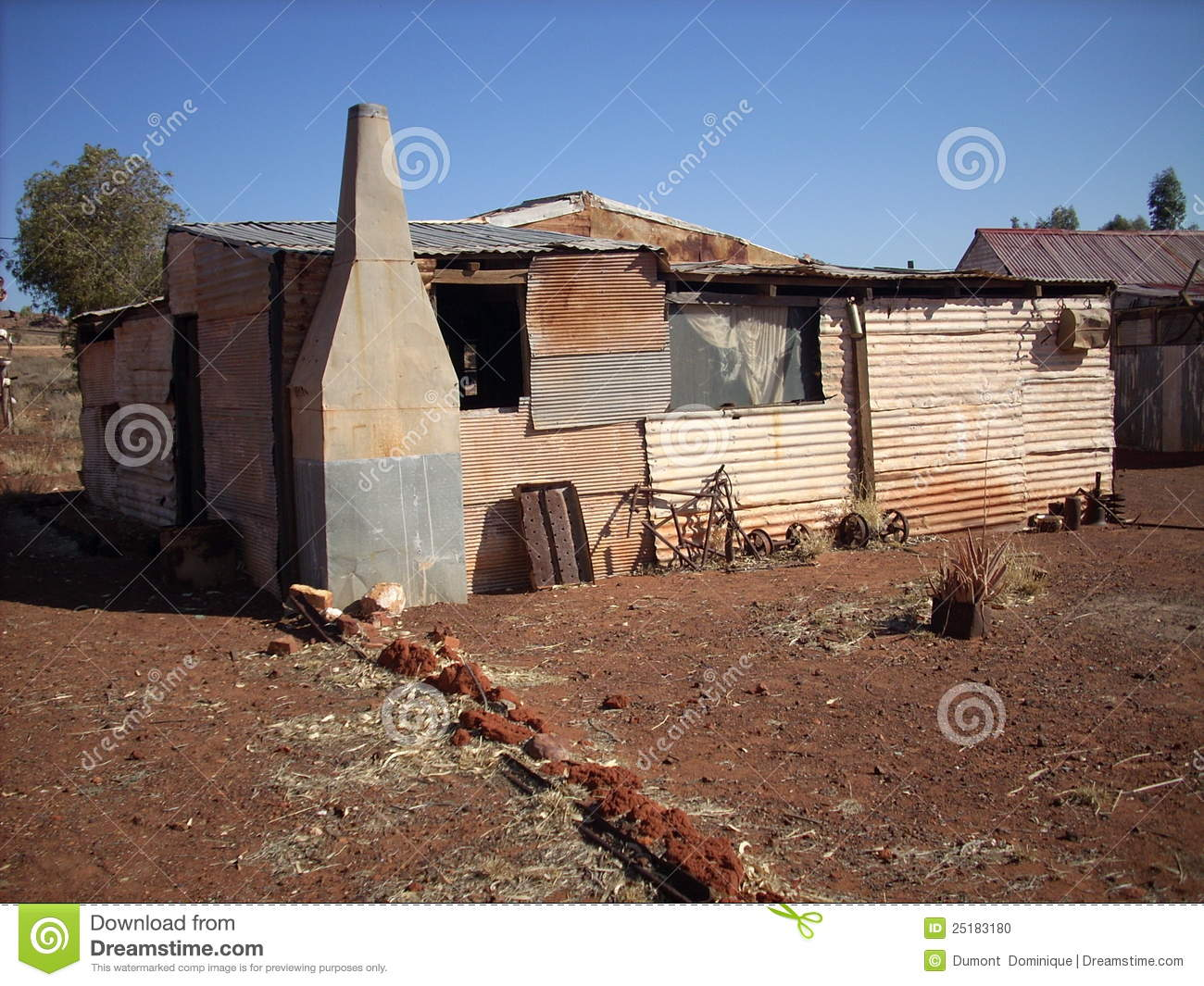 Metal Sheet Houses Stock Photo Image Of Outback Living