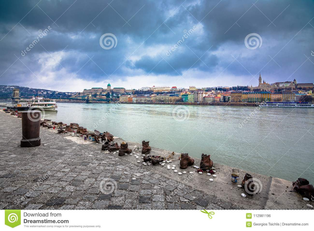 Metal shoes on the Danube, a monument to Hungarian Jews killed in the second world war, Budapest.