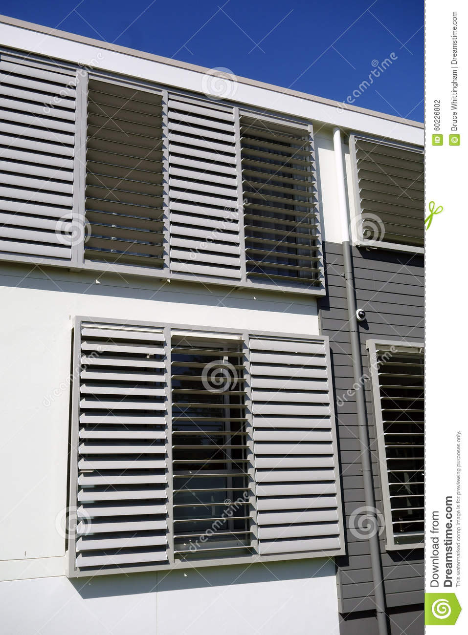 Metal Shutters On Modern Building Stock Photo Image 60226802