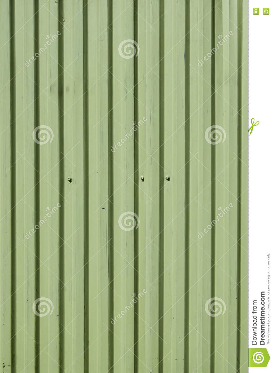 Metal Siding With Vertical Lines Stock Photo - Image of