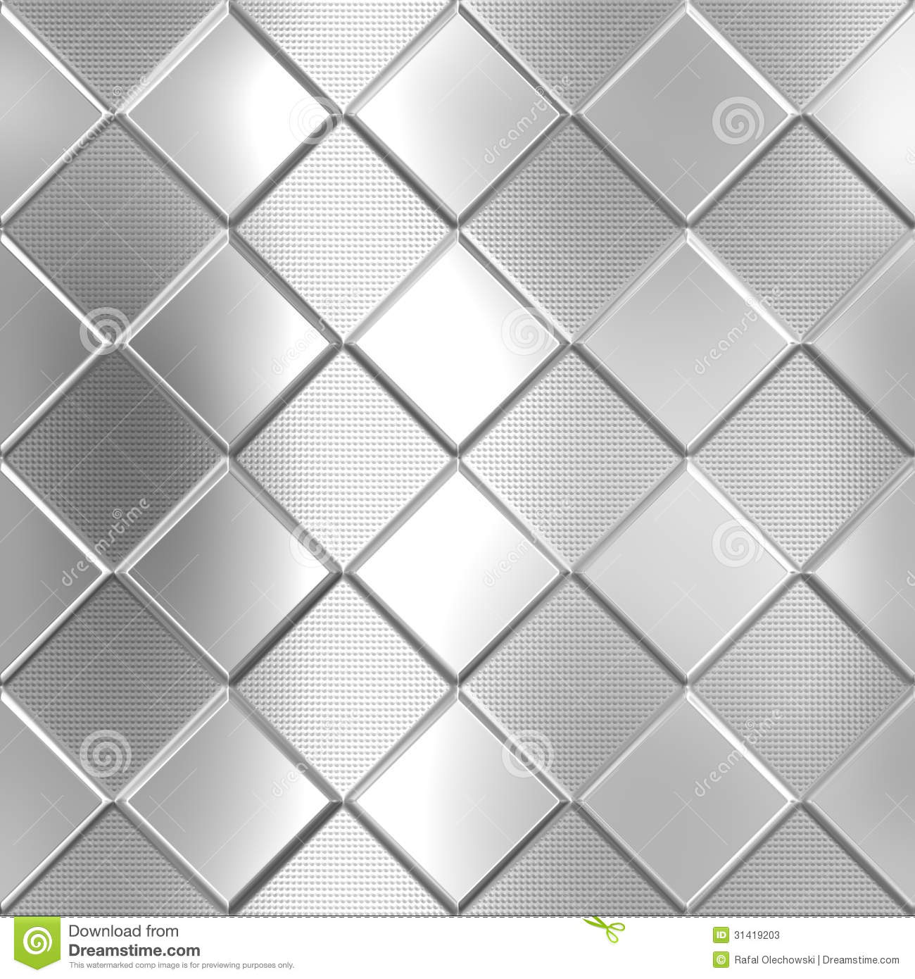 Metal Silver Checked Pattern Stock Photos - Image: 31419203