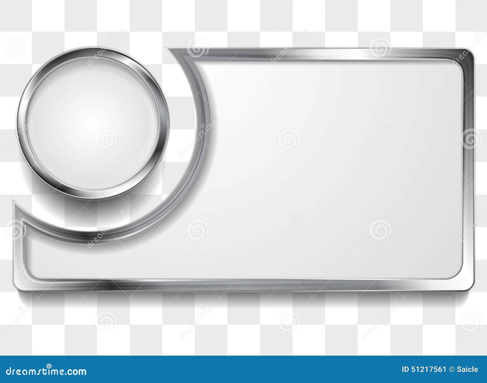 Silver Modern Picture Frames Intended Metal Silver Frame Background Silver Frame Background Stock Illustration Of