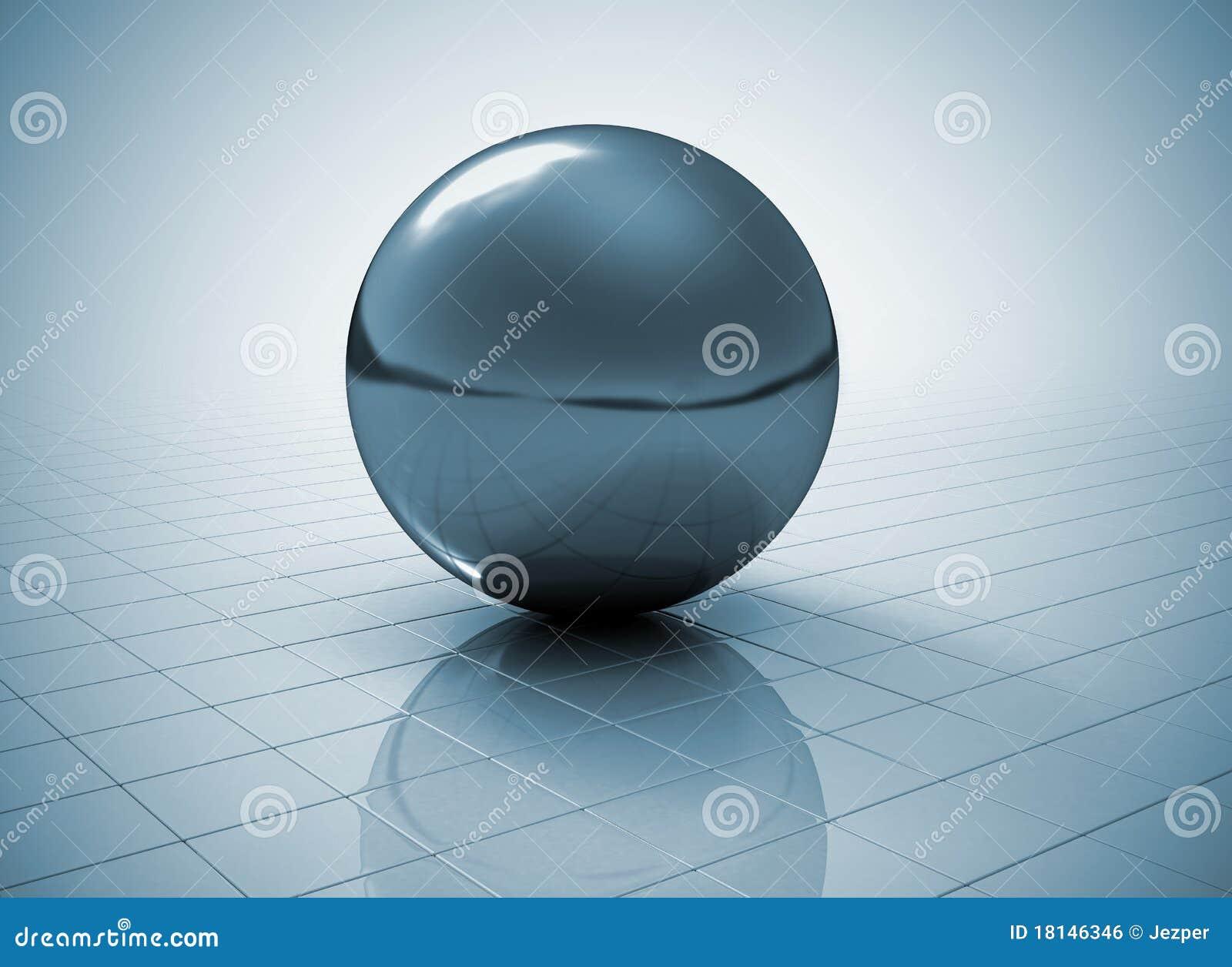 Metal Sphere Stock Illustration Illustration Of Global