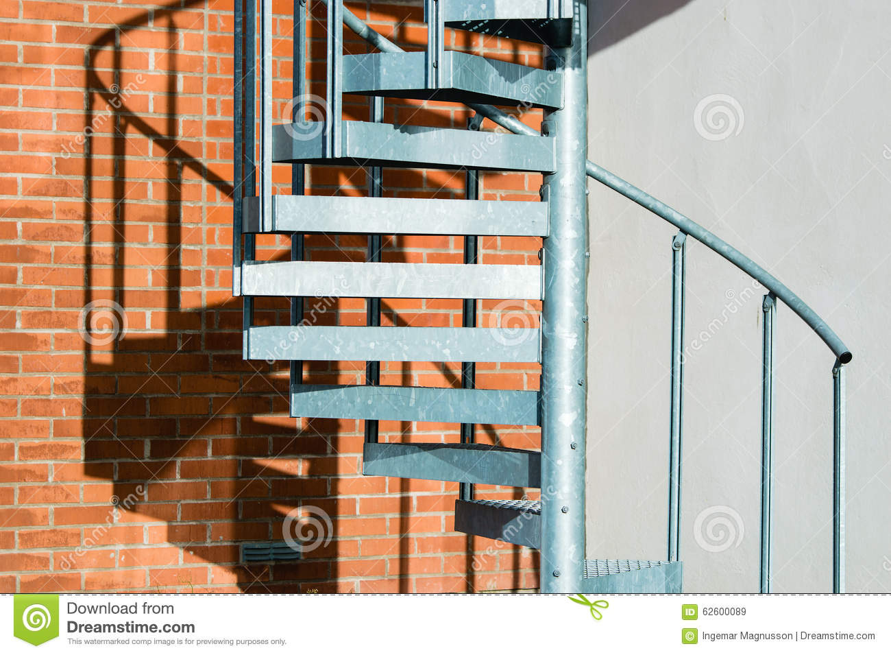 Metal spiral stairs stock image image of evacuation for Aluminum spiral staircase prices