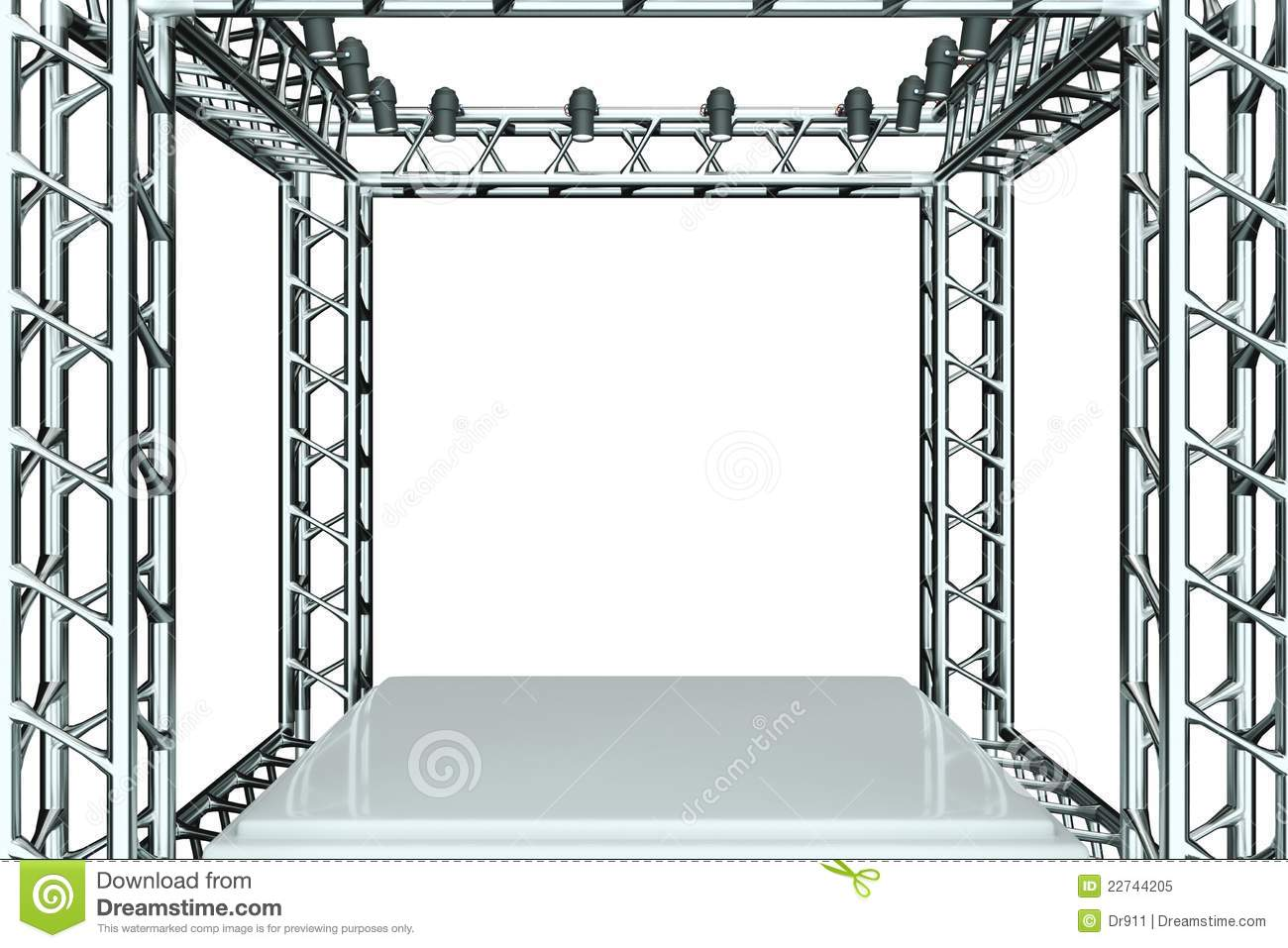 Metal Stage Stock Illustration Image Of Abstruse