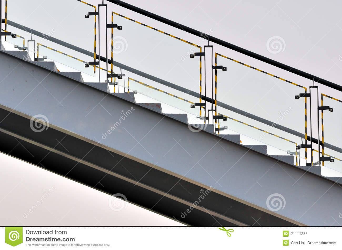 Metal stage composed by shape and line