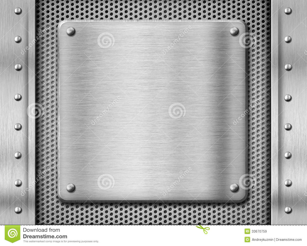 metal stainless steel plate background stock image