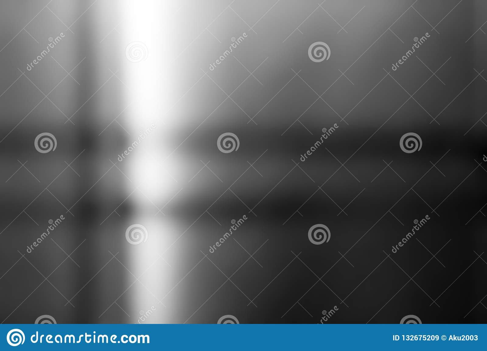 Metal stainless steel surface background or aluminum brushed silver metal with reflection.