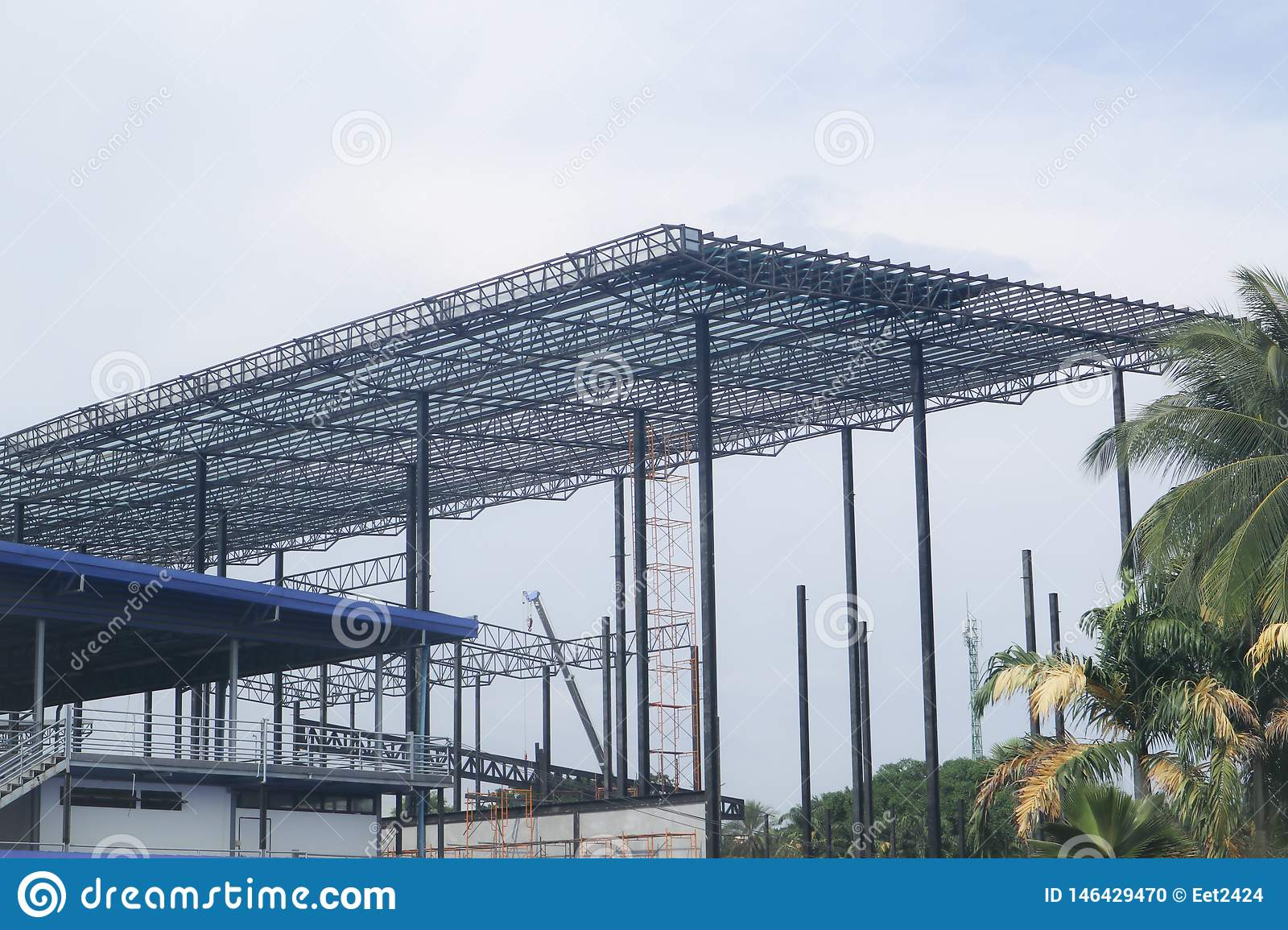 Metal steel frame buildings construction design