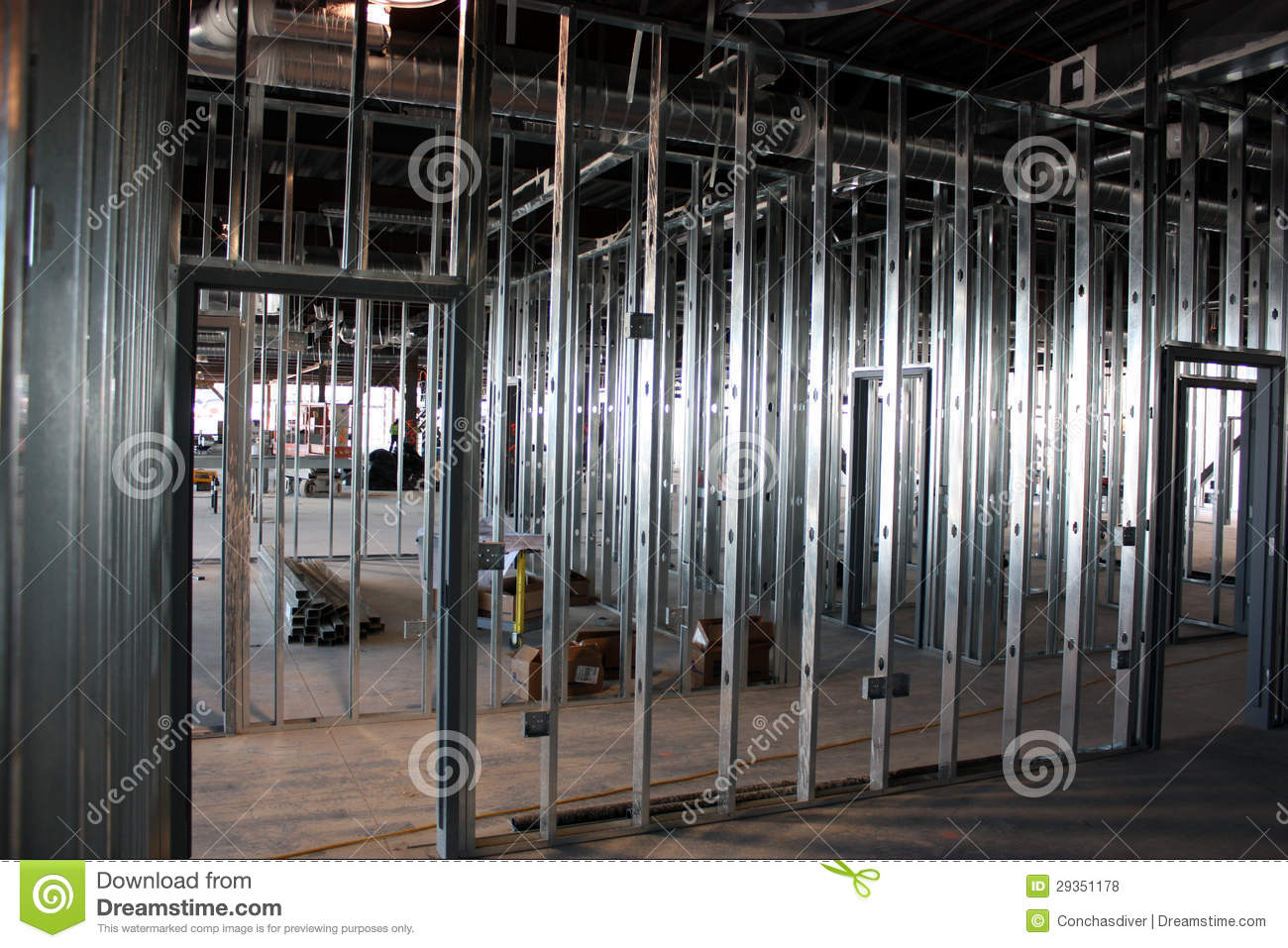 Metal Stud Framing Royalty Free Stock Photos Image 29351178